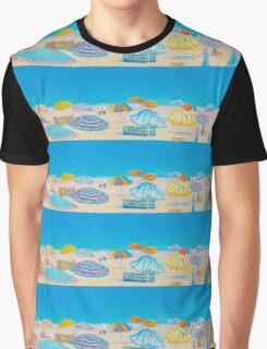 A panorama of beach umbrellas Graphic T-Shirt
