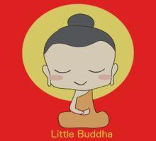 Little Buddha - black background & yellow writing  One Piece - Short Sleeve