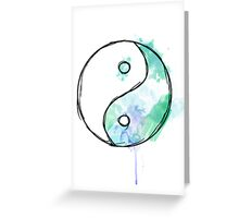 Ying Yang Greeting Card