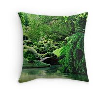 ...be there, senses open... Throw Pillow