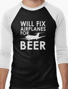Will Fix Airplanes for Beer, S550 Men's Baseball ¾ T-Shirt