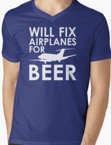 Will Fix Airplanes for Beer, S550 Mens V-Neck T-Shirt