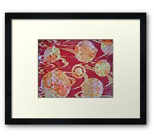 Red Cosmos by Heather Holland Framed Print