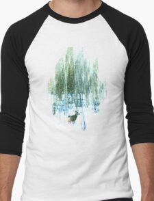 Deer in the Forest Men's Baseball ¾ T-Shirt