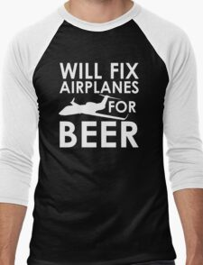 Will Fix Airplanes for Beer, G450 Men's Baseball ¾ T-Shirt