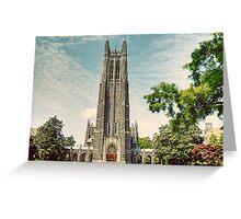 Duke University Chapel Greeting Card