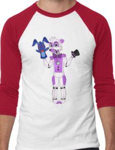 FNAF Sister Location Funtime Freddy Men's Baseball ¾ T-Shirt