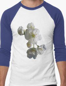cherries in blosssom on snorkel blue Men's Baseball ¾ T-Shirt