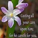 Cast Your Care on Him ~ 1 Peter 5:7 by Robin Clifton