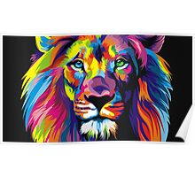 Artsy Lion Poster