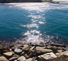 The channel at Urunga by John Catsoulis