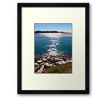 The channel at Urunga Framed Print