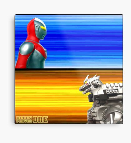 Ready Player One... FIGHT! Metal Print