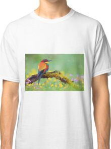 Low Poly Bird in nature Classic T-Shirt