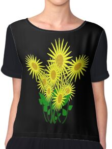 Flower Sunburst Chiffon Top