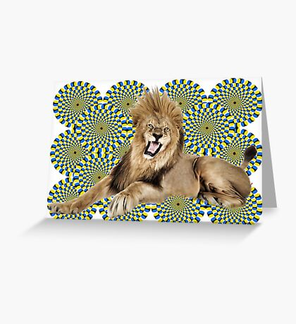 Roar Leo optical ilusion Greeting Card