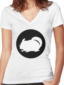 Chinchilla Women's Fitted V-Neck T-Shirt