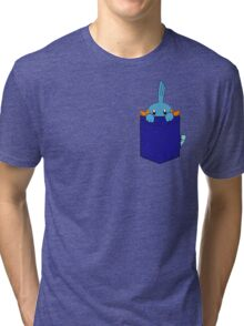 Mudkip in my Pocket Tri-blend T-Shirt