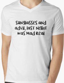 mad real  Mens V-Neck T-Shirt