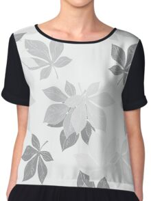 Background of chestnut leaves Chiffon Top