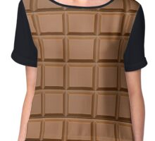 Chocolate Chiffon Top