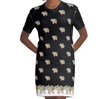 Elephant Graphic T-Shirt Dress