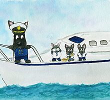 Captain Billy keeps an eye on the crew by archyscottie
