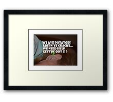 Ear Meme Framed Print
