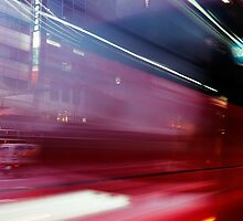 Abstract blurred traffic on street in Tokyo Ginza art photo print by ArtNudePhotos