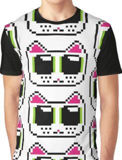Pixel Kitty Graphic T-Shirt