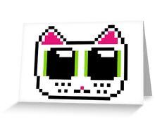 Pixel Kitty Greeting Card