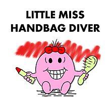 Miss Handbag Diver Photographic Print
