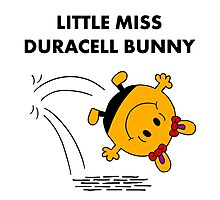 Miss Duracell Bunny Photographic Print