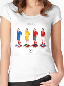 EURO 2016 Championship GROUP A Women's Fitted Scoop T-Shirt