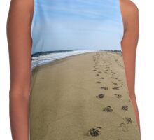 Beach Footprints & Sunshine Contrast Tank