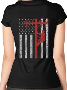 American Lineman Women's Fitted Scoop T-Shirt