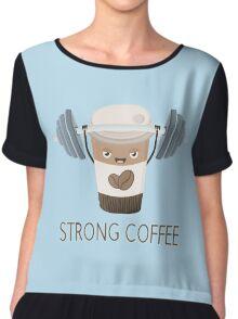 Strong Coffee Chiffon Top