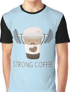 Strong Coffee Graphic T-Shirt