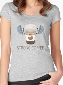 Strong Coffee Women's Fitted Scoop T-Shirt