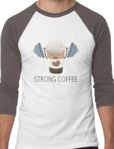 Strong Coffee Men's Baseball ¾ T-Shirt