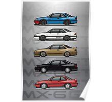 Stack of Mazda MX6 GTs Poster