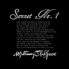 Shakespeare Sonnet No. 1 (B&W) by Sally McLean