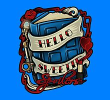Hello Sweetie (pillow) by Ameda Nowlin