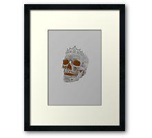 Sepia Skull Princess Framed Print