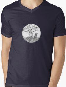 Bodhi Tree Dog Mens V-Neck T-Shirt