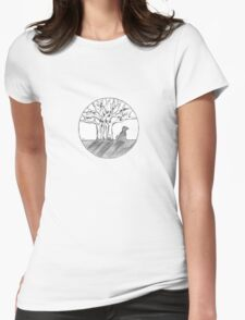 Bodhi Tree Dog Womens Fitted T-Shirt