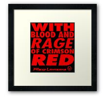 Blood and Rage Framed Print