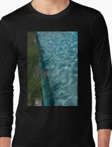 Aquamarine and Lavender - the Fragrant Edge of the Pool Long Sleeve T-Shirt