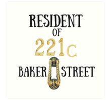Resident of 221C Baker Street Art Print