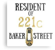 Resident of 221C Baker Street Metal Print